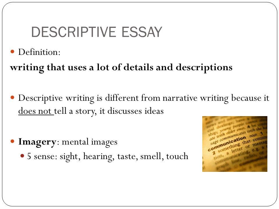 Definition of a descriptive essay mistyhamel