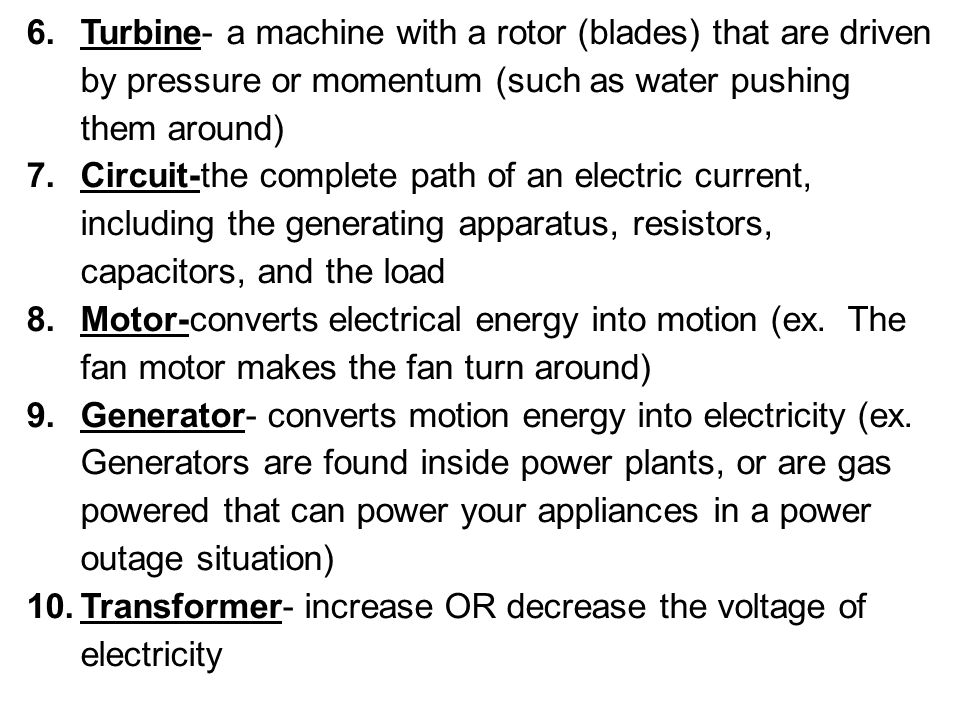 Alternating Current-The current switches back and forth in