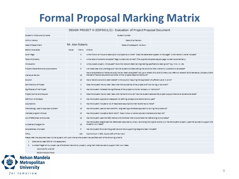 The Draft And Formal Project Proposal Ppt Download