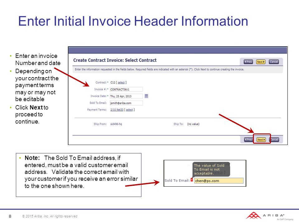 Contract Invoice Guide Ppt Video Online Download - Invoice header