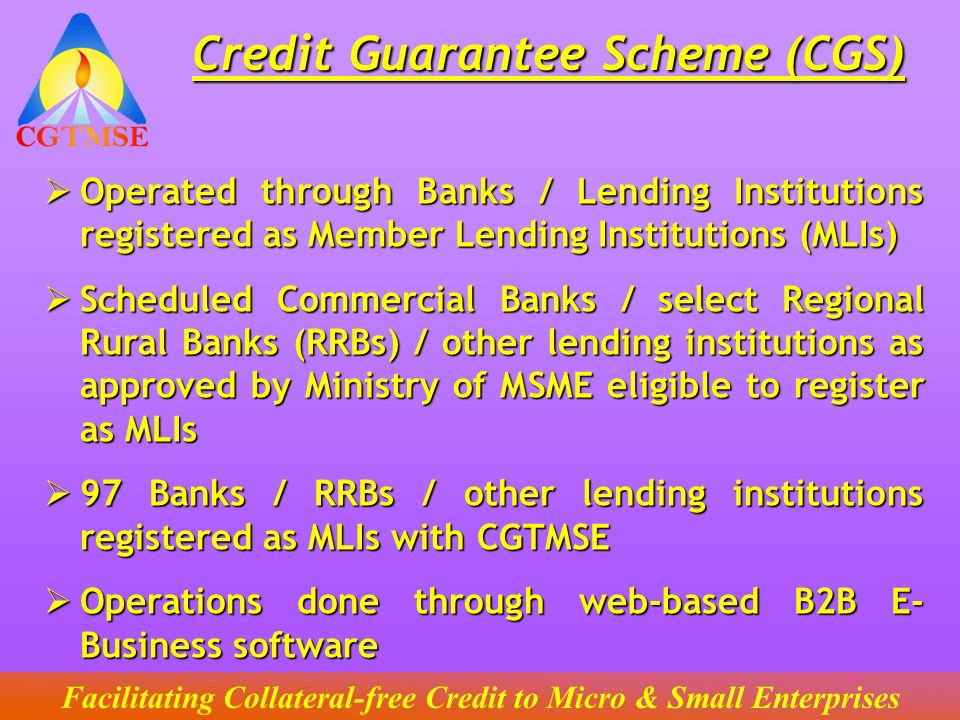 Cgtmse | credit guarantee fund trust for micro and small enterprises.
