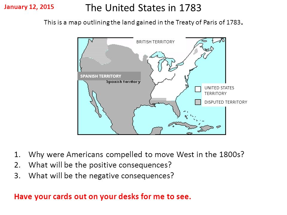 Treaty Of Paris Map 1783.January 12 2015 The United States In 1783 This Is A Map Outlining
