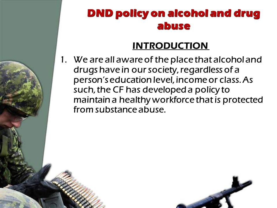 CF policy on substance abuse - ppt video online download
