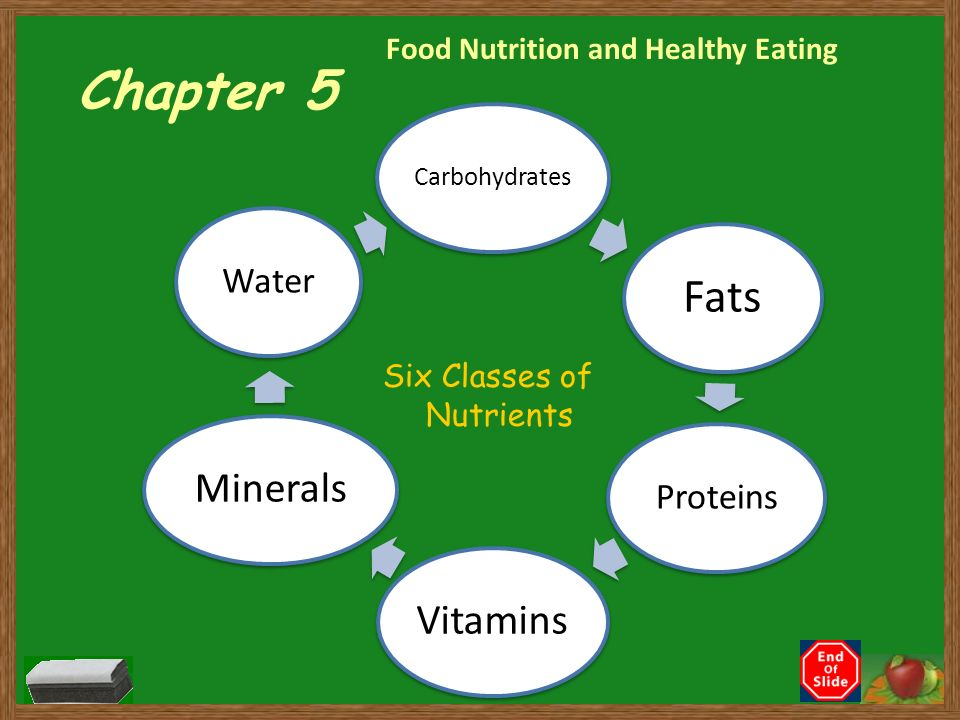 Six Cl Es Of Nutrients