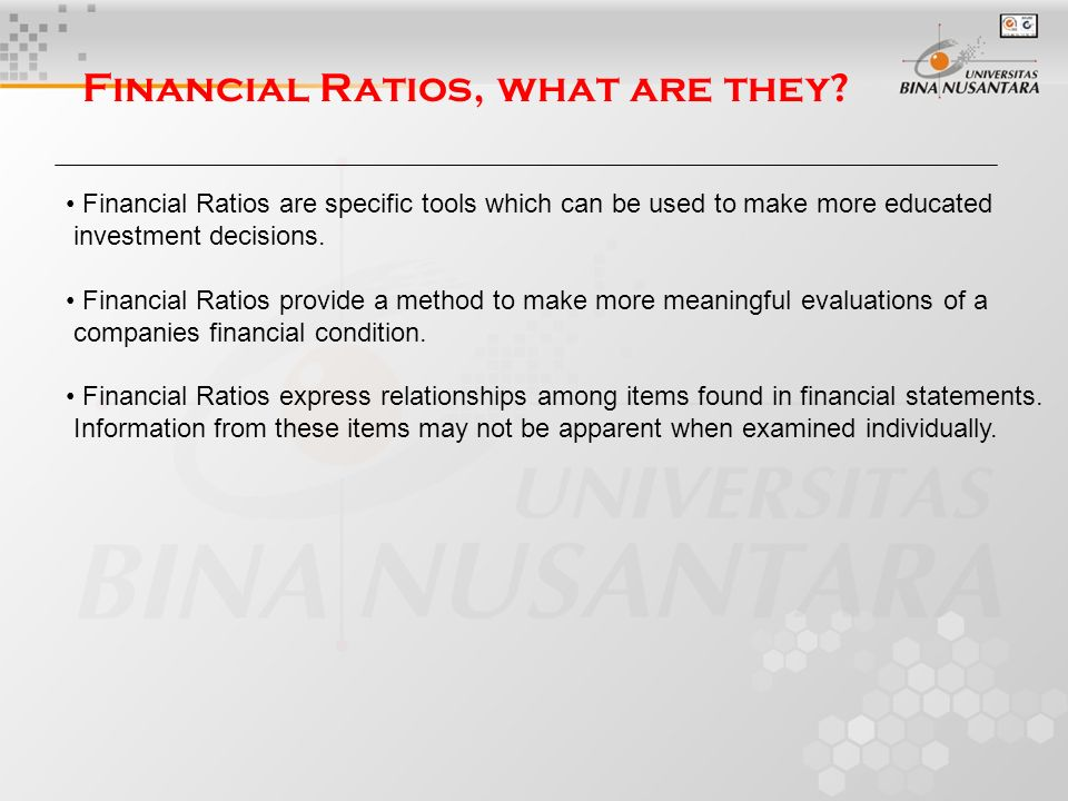 4 financial ratios