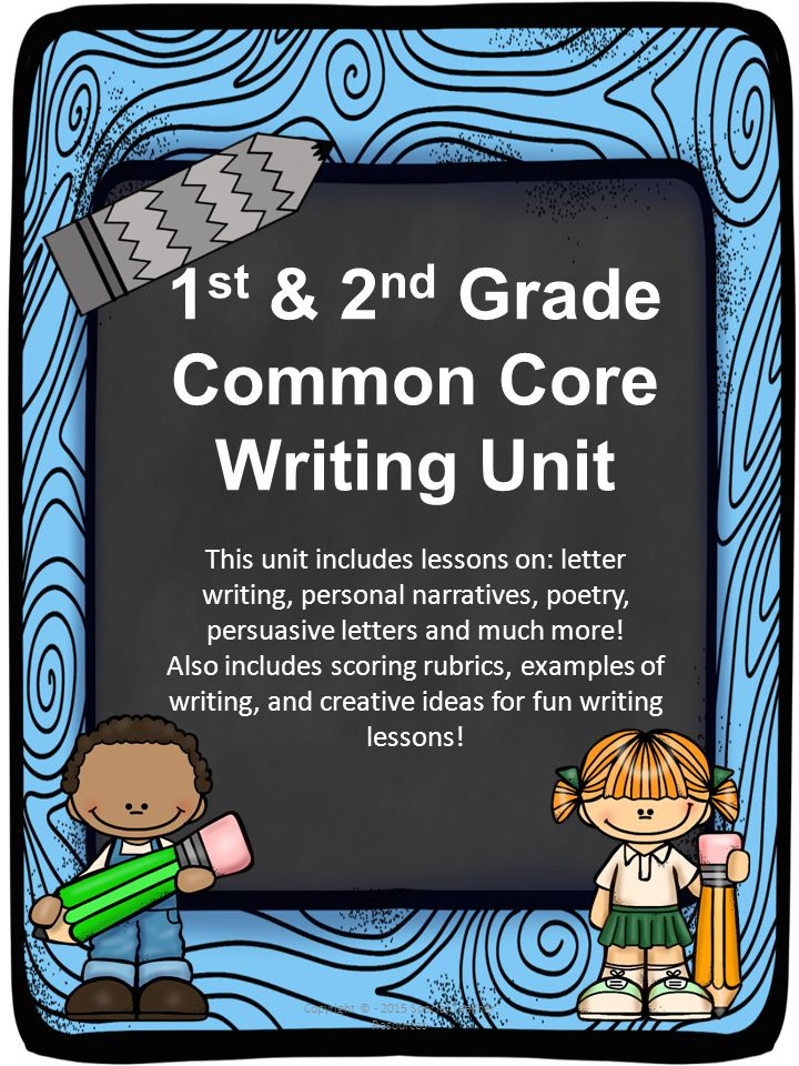 1st 2nd Grade Common Core Writing Unit Ppt Download