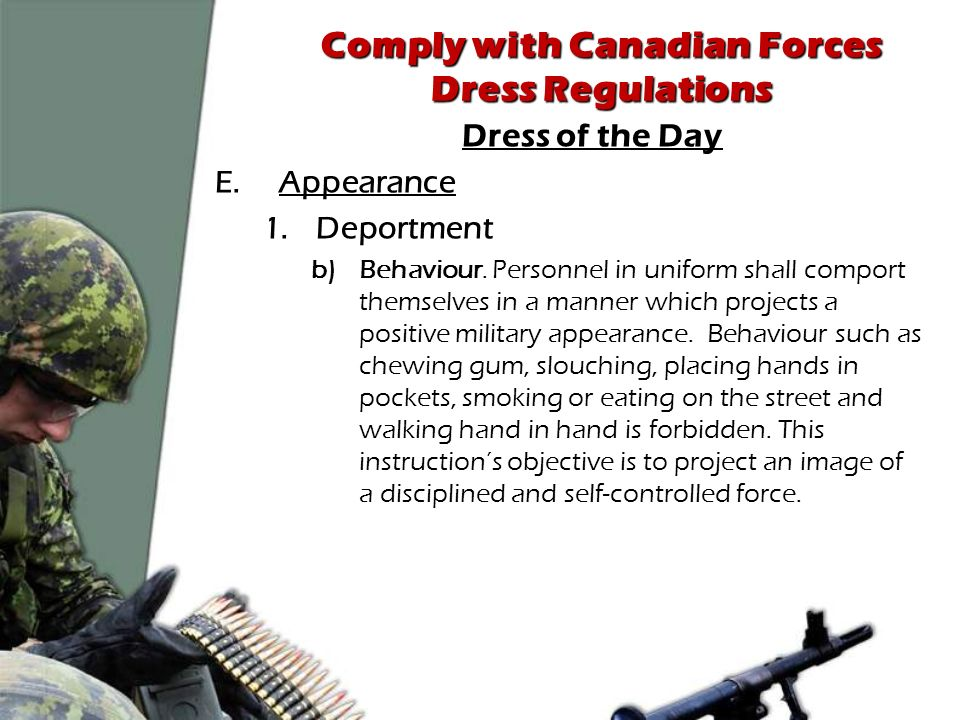 military appearance