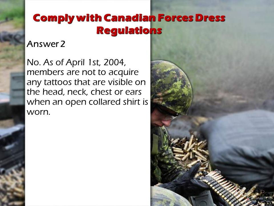 Comply with Canadian Forces Dress Regulations - ppt video