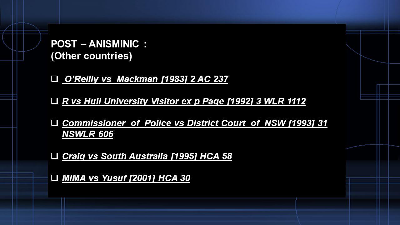 ANISMINIC LTD VS FOREIGN COMPENSATION COMMISSION 1969 2 AC Ppt