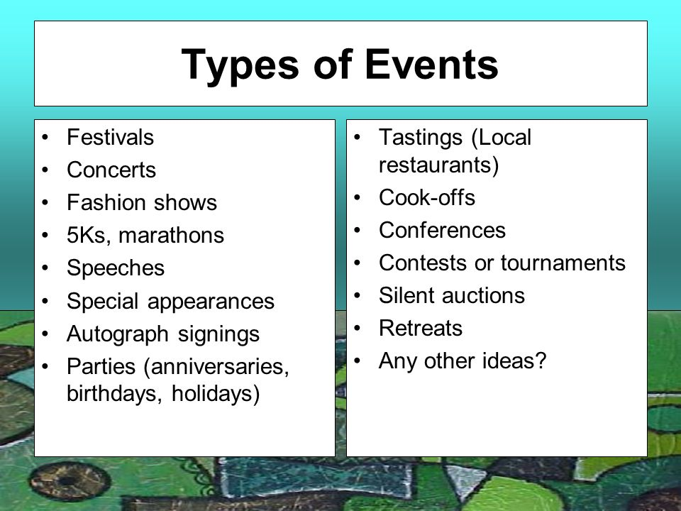 Event management ppt template.