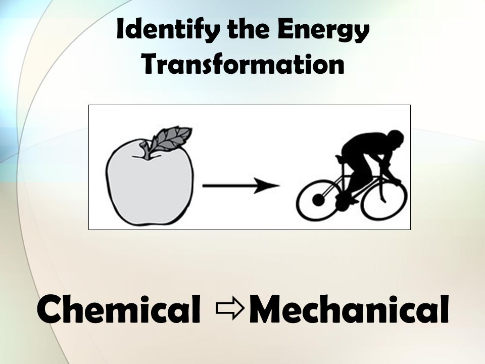 Identify all the forms of energy you see in the picture ...