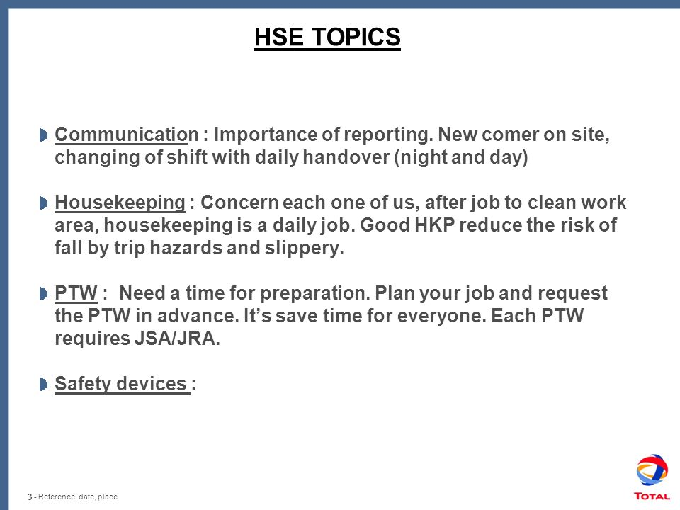 Safety Meeting Presentation Ideas