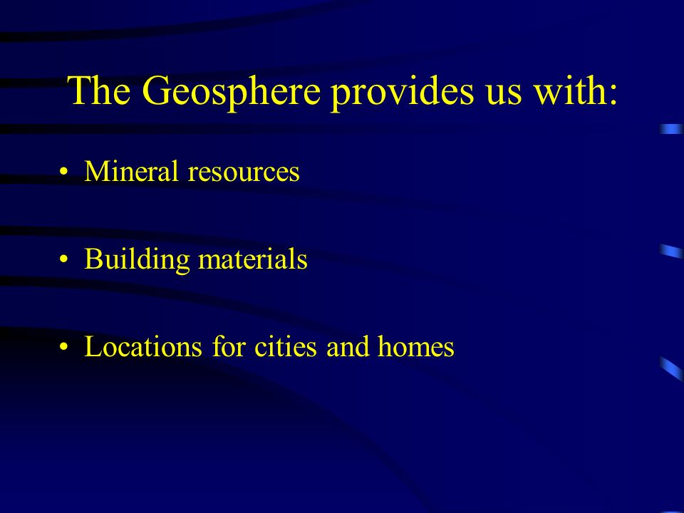 The Geosphere provides us with: