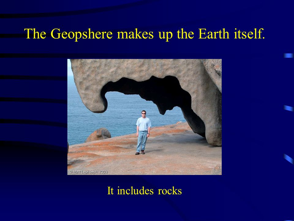 The Geopshere makes up the Earth itself.