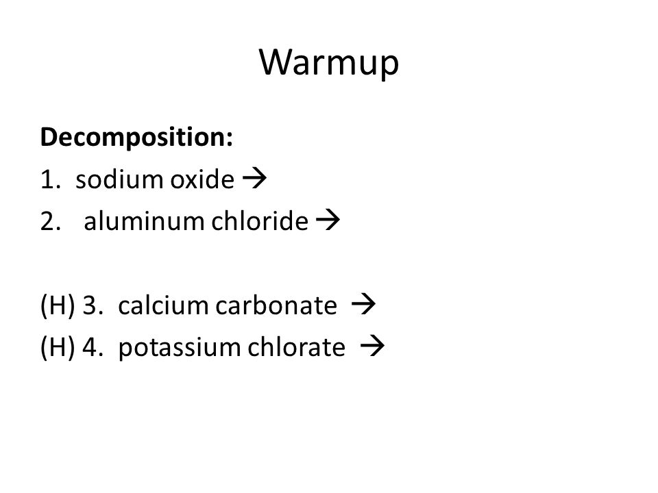 the decomposition of potassium chlorate Potassium chlorate and oxidation lab  introduction: the mass percentage of oxygen in potassium chlorate is determined by decomposing the potassium chlorate the oxygen is driven off during the decomposition of potassium chlorate to produce potassium chloride.
