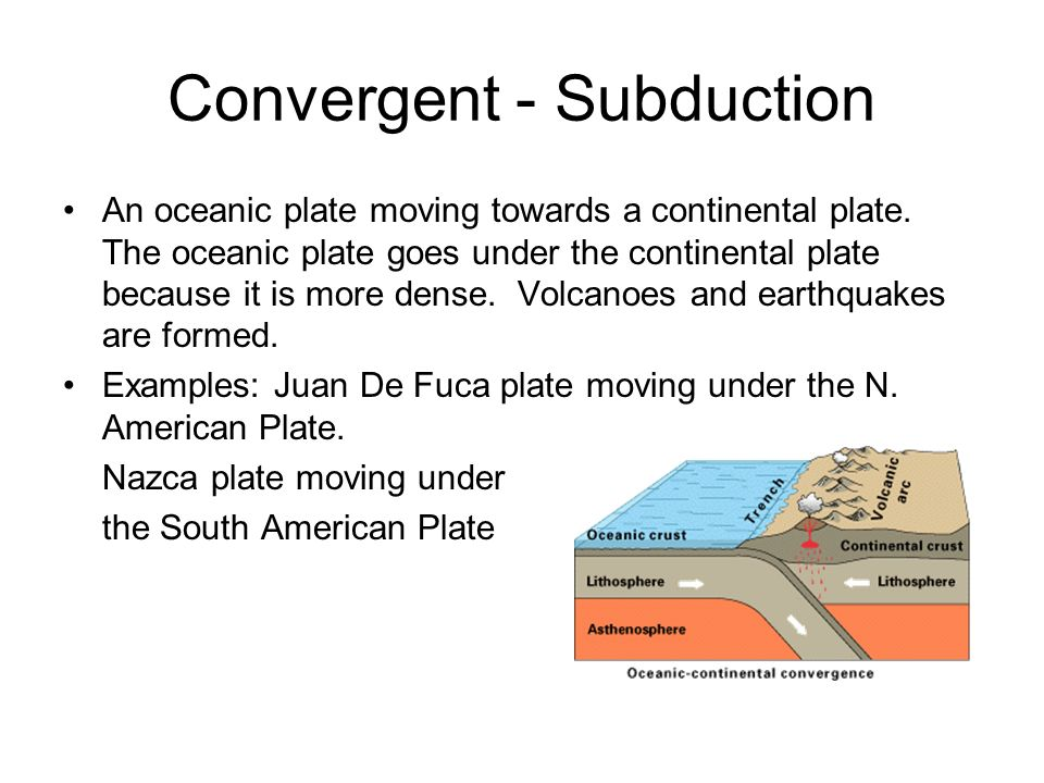 Plate Boundaries Convergent 2 Plates Moving Towards Each Other