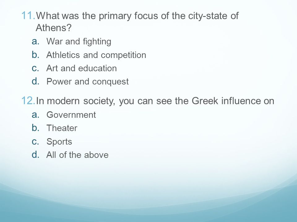the greek polis put primary emphasis on