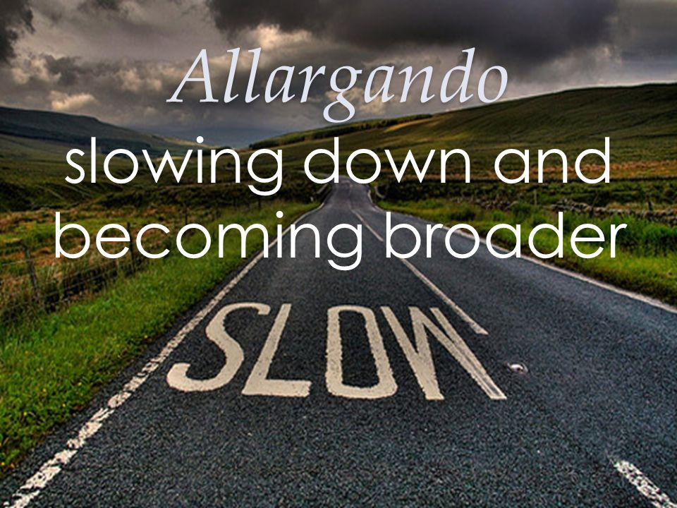 slowing down and becoming broader
