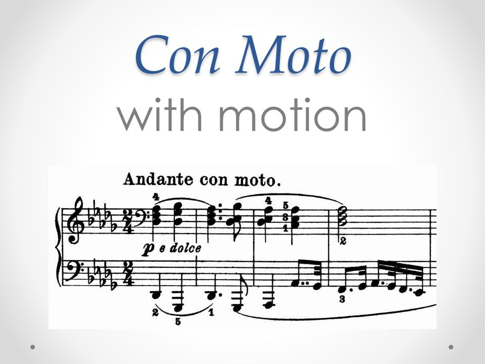 Con Moto with motion