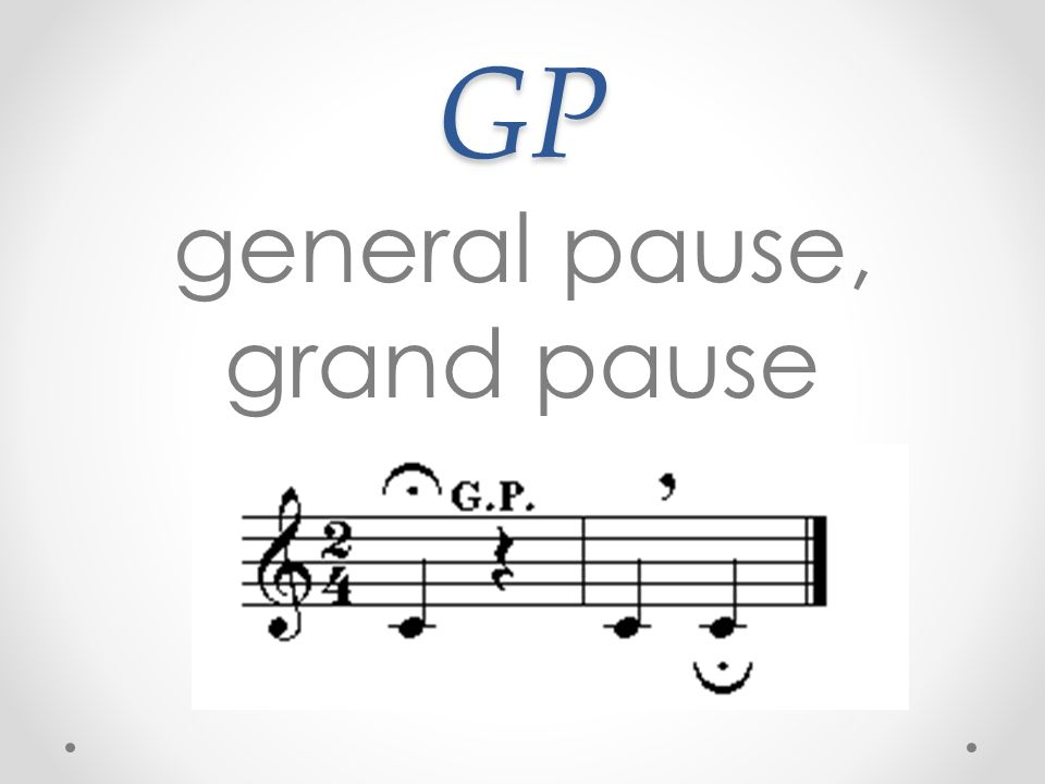 general pause, grand pause
