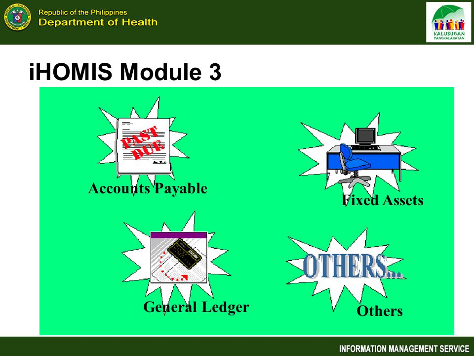 iHOMIS Module 3 Accounts Payable Fixed Assets General Ledger Others