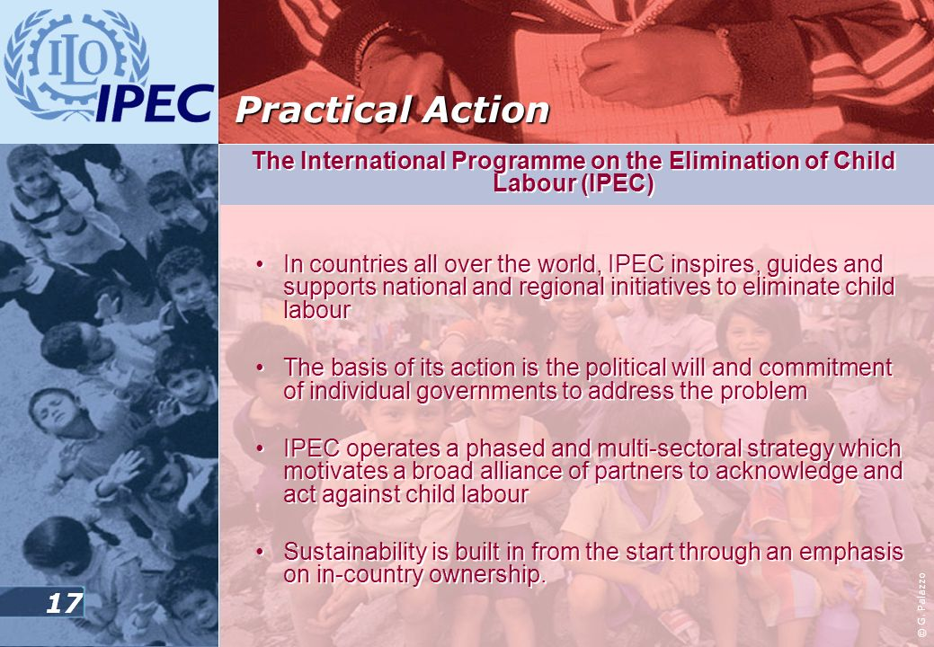 The International Programme on the Elimination of Child Labour (IPEC)