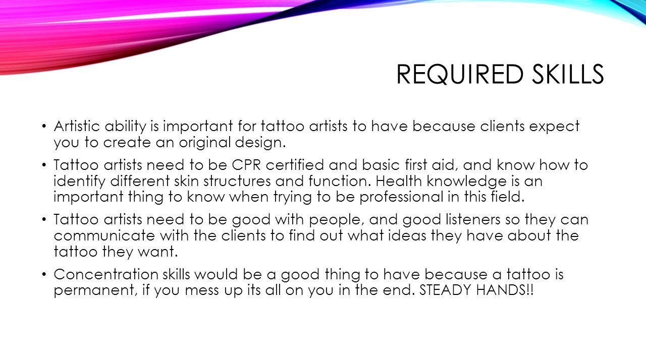 Tattoo Artist Ppt Video Online Download
