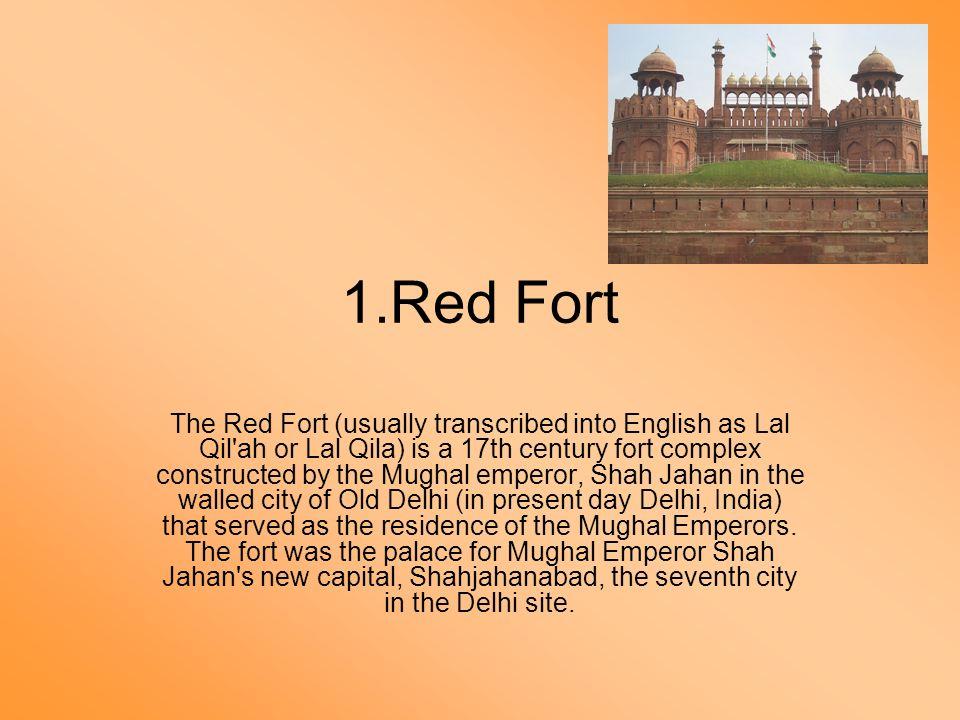Architecture study of red fort, qutub minar and rasprati bhawan.