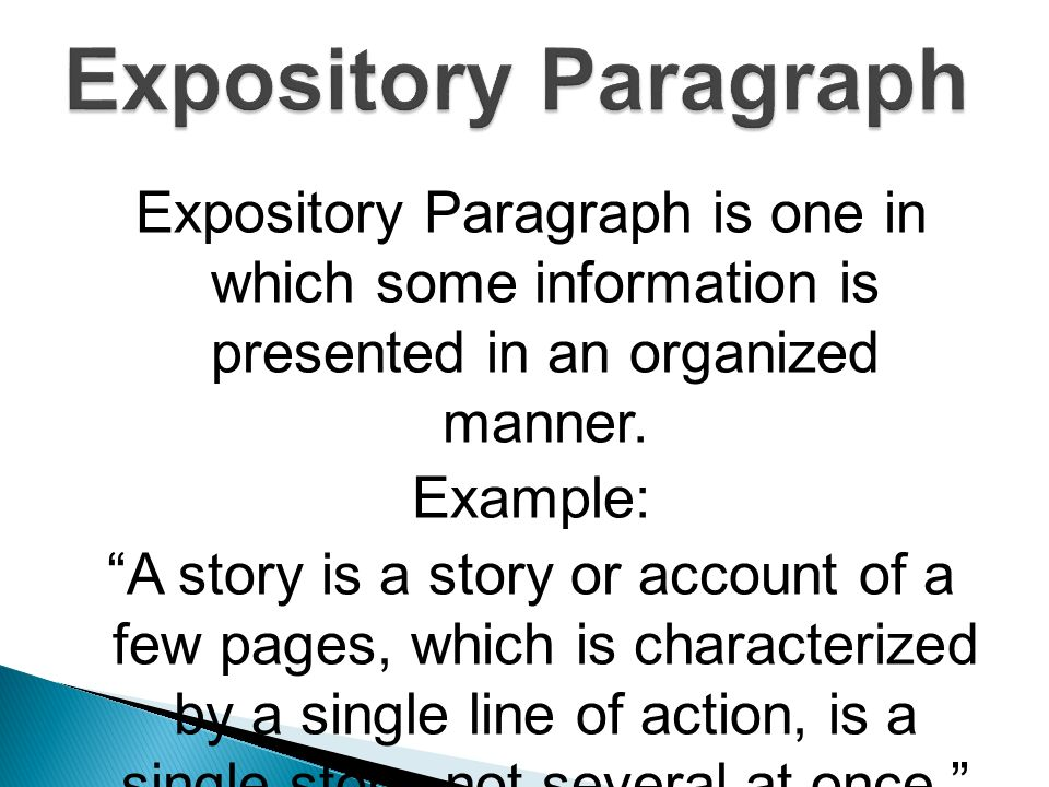 what is an expository story