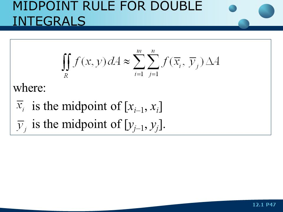 DOUBLE INTEGRALS OVER RECTANGLES - ppt video online download