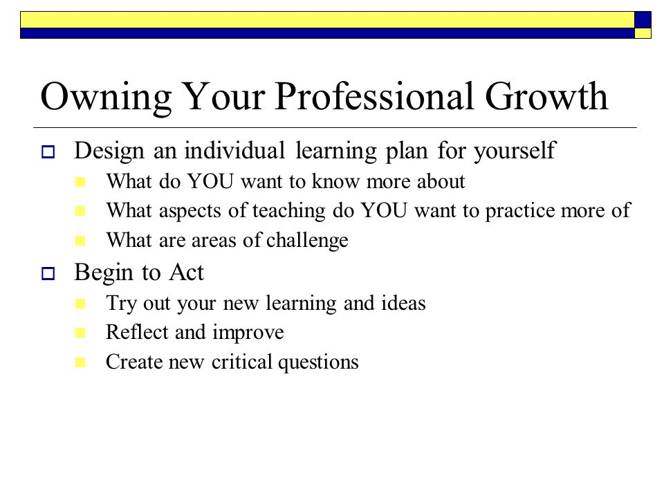 teacher professional growth plans examples