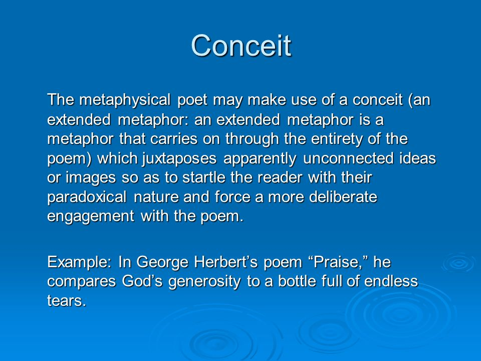 conceit poetry