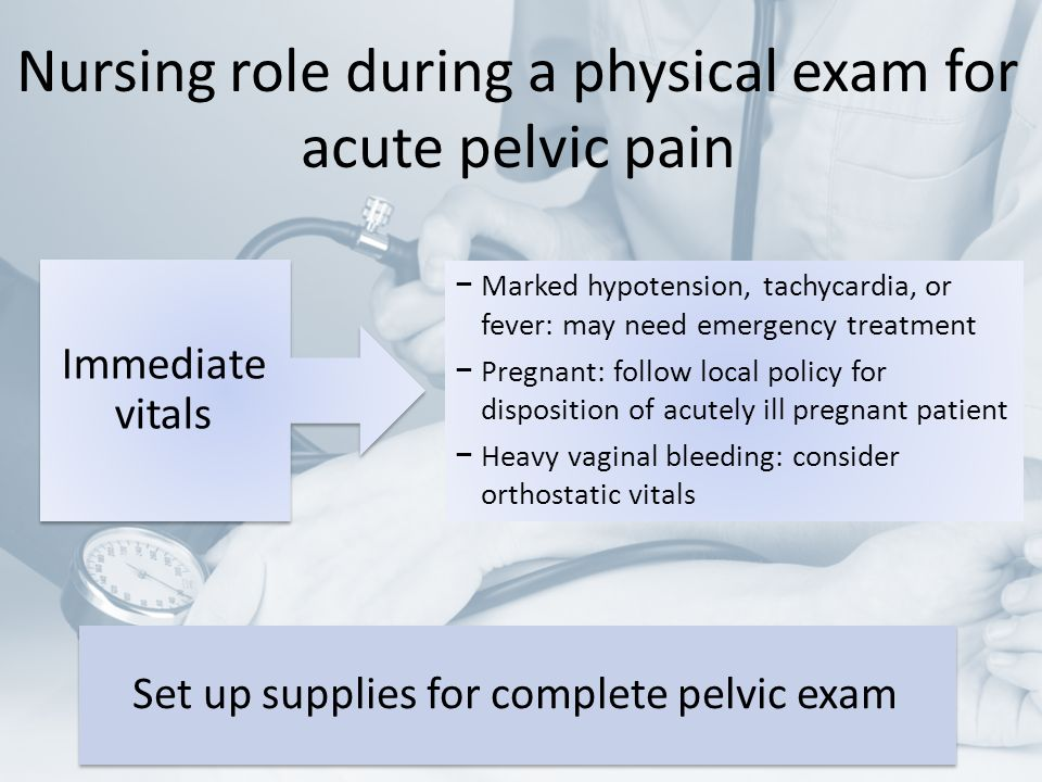 Vaginal pain and pelvic exam