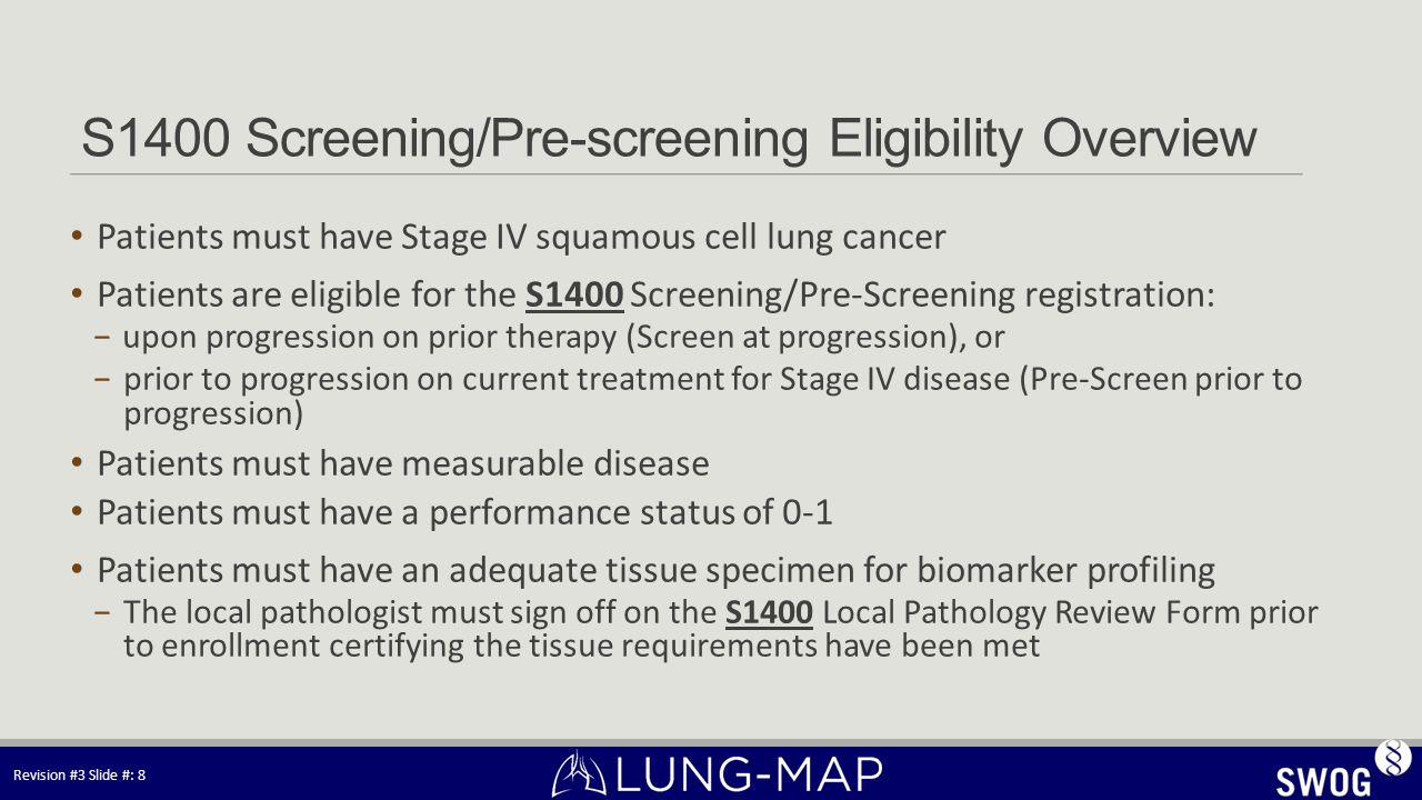S1400 Screening/Pre-screening Eligibility Overview