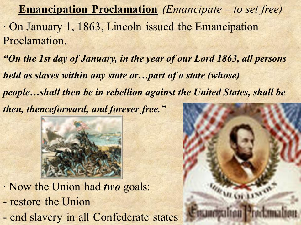 when did lincoln issue the emancipation proclamation