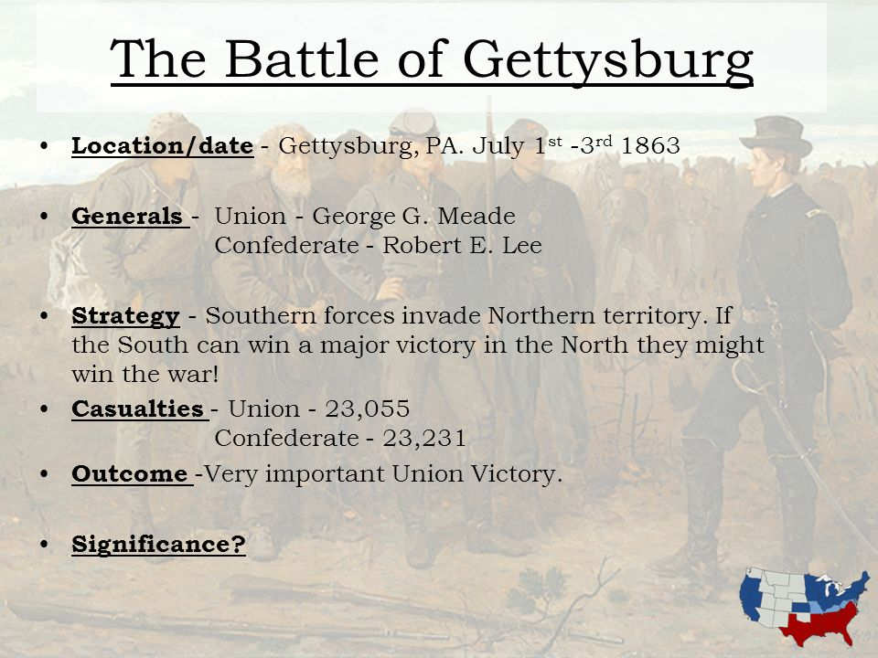 Battle of gettysburg date in Perth