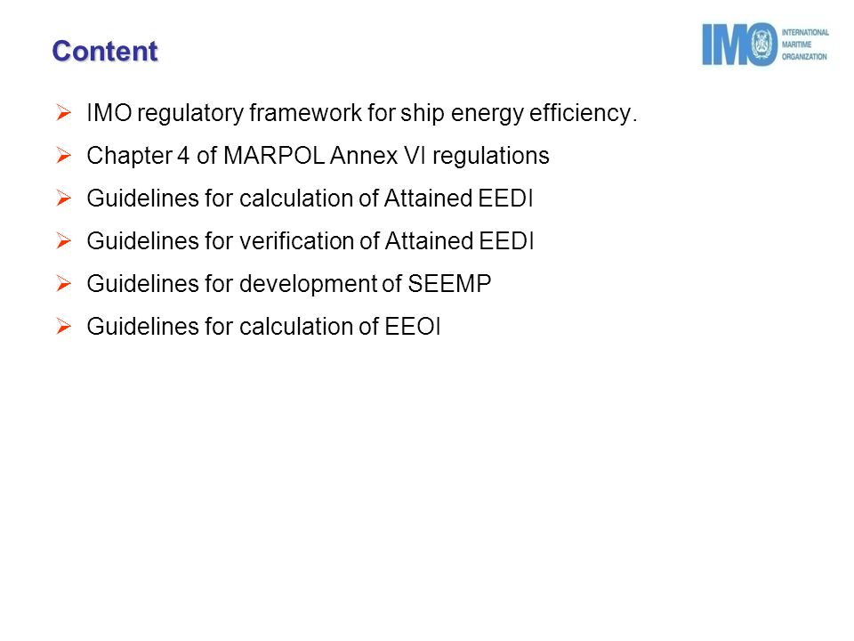 Module 2: Ship Energy Efficiency Regulations and Related
