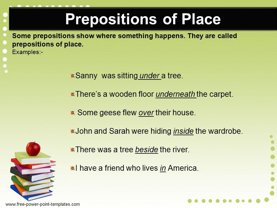 PREPOSITIONS Definition:- - ppt video online download