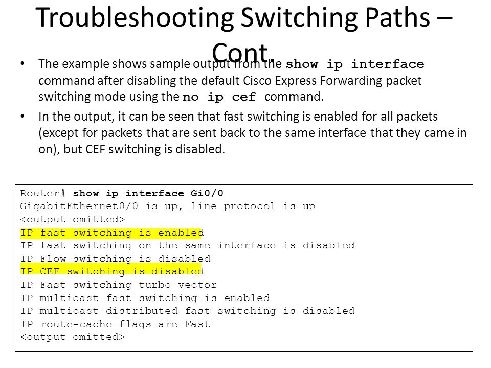 Troubleshooting Performance Issues on Switches - ppt download