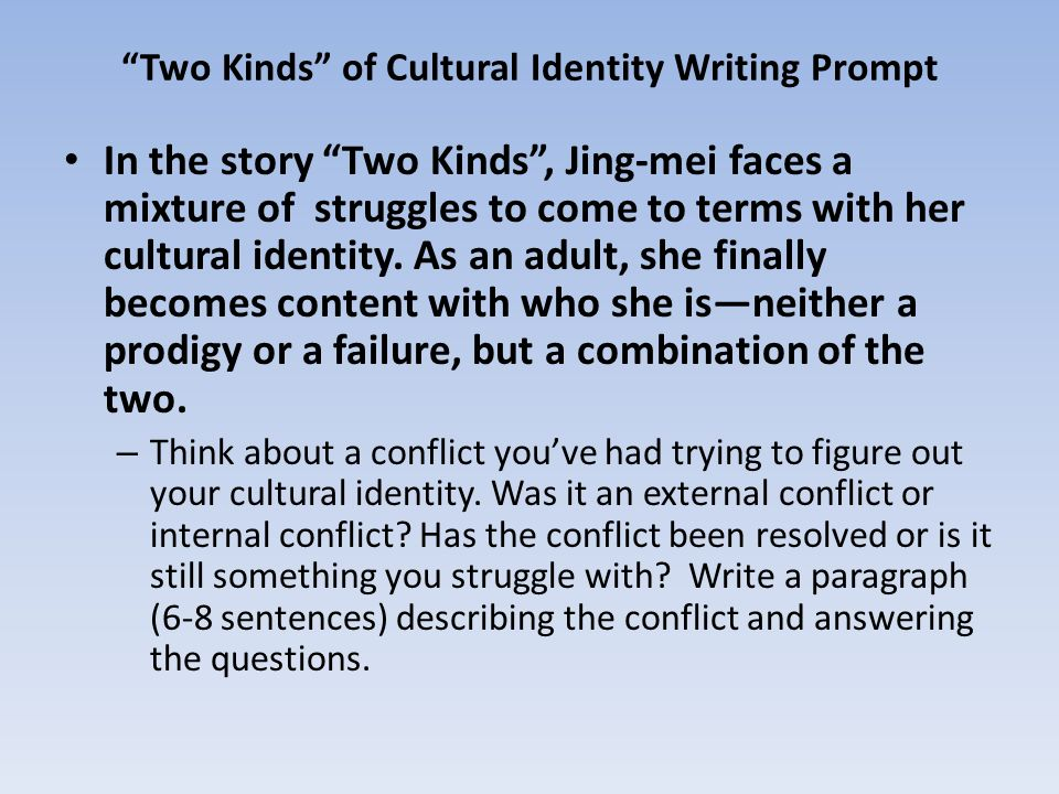 how to describe your cultural identity