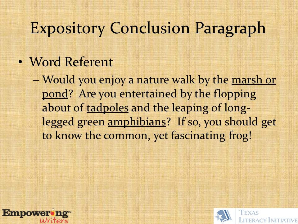 paragraph on nature walk
