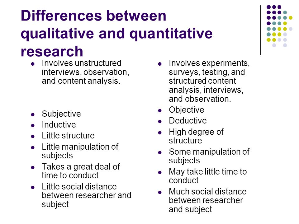 what is the difference between qualitative and quantitative research