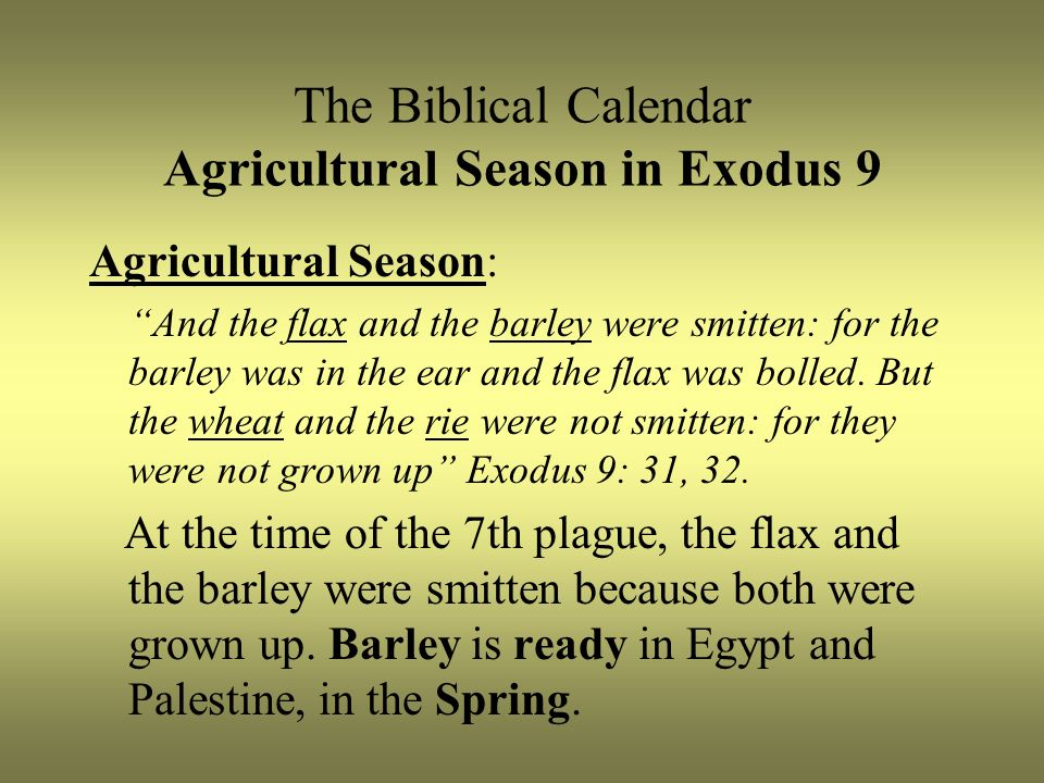 Biblical Calendar.The Biblical Calendar And Christ S Crucifixion Part Ppt Video Online
