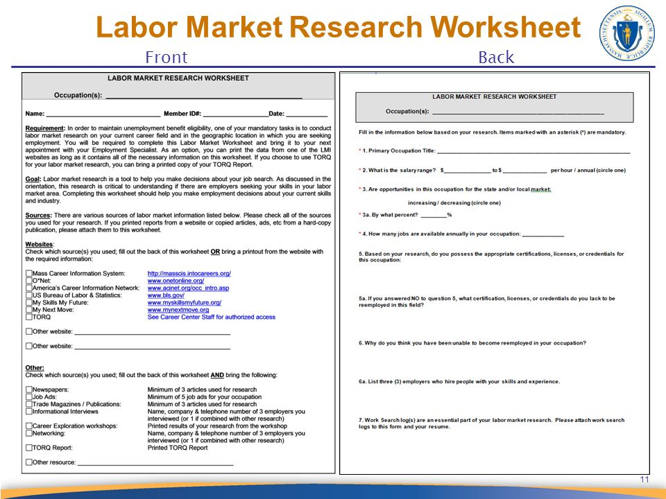 Wele To The Career Center 426 Ppt Video Online Download. Labor Market Rese Worksheet 12 Benefits Of Tracking Your Job Se. Worksheet. 11 1 Worksheet Job Opportunities Answers At Clickcart.co