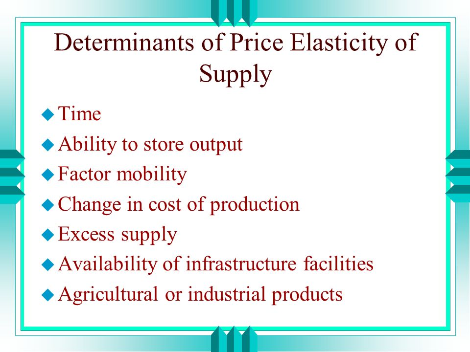 Elasticity Of Supply Ppt Video Online Download