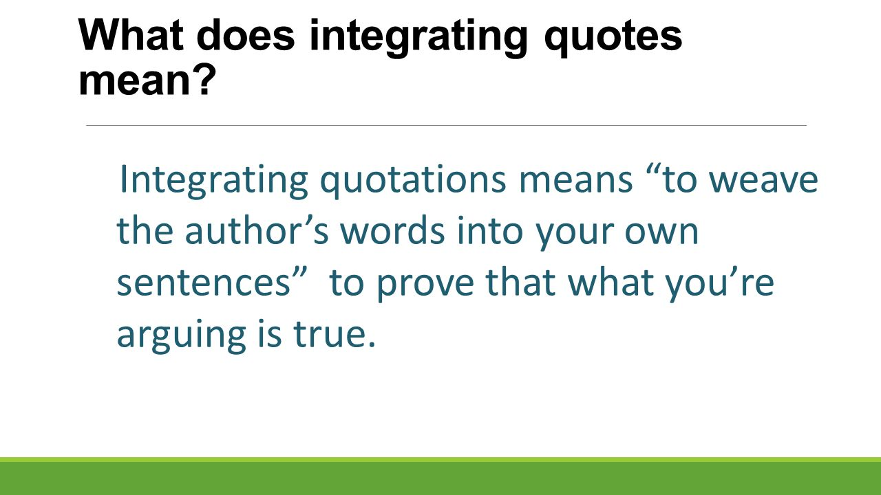 How To Integrate Quotes Ppt Video Online Download