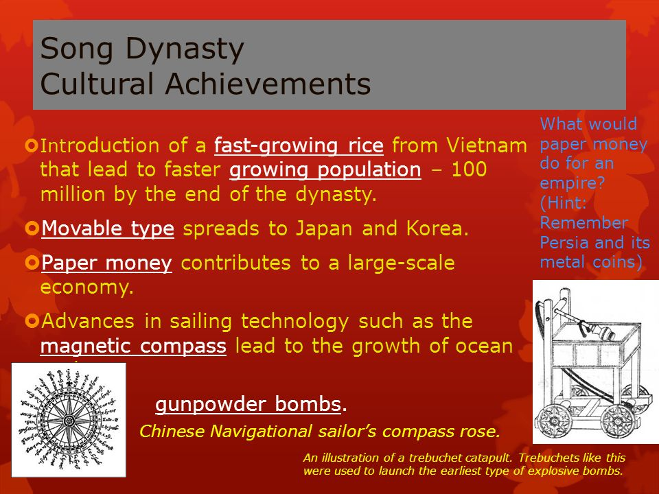 song dynasty achievements and inventions