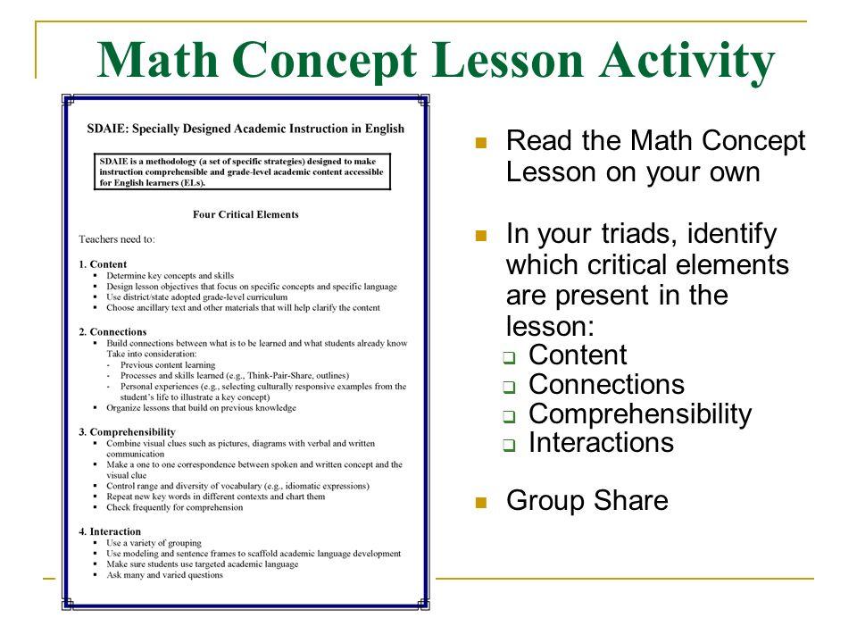 Sdaie Session 2 Universal Accesssdaie Lesson Design Template Ppt