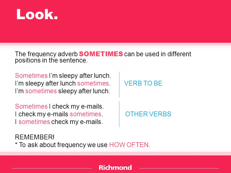FREQUENCY ADVERBS  - ppt download