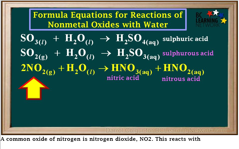 Nonmetal Oxides Here we'll have a closer look at nonmetal